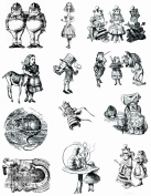 Alice in wonderland themed stamps 1 full sized sheet 22cm x 28cm UM #2