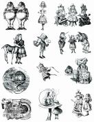 Alice in wonderland themed stamps 1 full sized sheet 22cm x 28cm UM #2