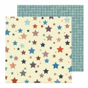 Nikki Sivils Scrapbooker Noah, Noah's Stars and Noah's Overalls Paper, Double-Sided Paper, 25-Sheet
