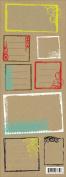 Jillson Roberts Kraft Stickers, Urban Frames, 12-Sheet Count