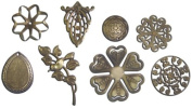 Fabscraps Old Brass Filligree, Set of 3
