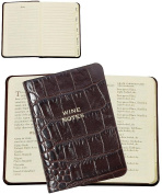 MINI Tabbed Wine Notes in Croco-Brown Calfskin Leather by Graphic Image -