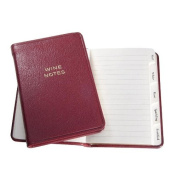 MINI Tabbed Wine Notes in Garnet Calfskin Leather by Graphic Image -