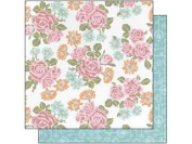 ANNA gryphon Hope Chest Cardstock, 30cm by 30cm , Cross-Stitch Roses White