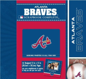 CR Gibson Tapestry Complete Scrapbook Kit, Atlanta Braves