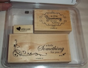 Stampin Up Yummy Rubber Stamps Set of 3 Retired