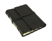 Rustic Ridge Leather Journal - Handmade - 13cm x 18cm - Black