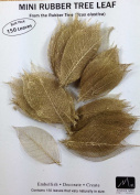 GOLD MINI RUBBER TREE LEAVES - Pack of 150