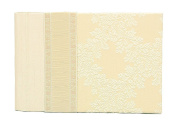 Molly West 2098 36-Photo-Capacity Brag Book with Swiss-Brocade-and-Silk Cover, Champagne Wedding