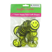 Foam happy face craft shapes - 12 pack