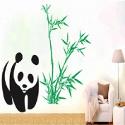 Panda Bamboo Wall Stickers