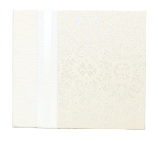Hom Essence 0438 20cm by 20cm Post Bound Wedding Scrapbook, Cream Fabric with Ribbon