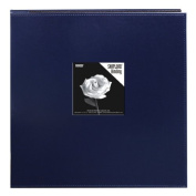 Pioneer 30cm by 30cm Snapload Sewn Leatherette Frame Cover Memory Book, Navy Blue