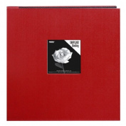 Pioneer 30cm by 30cm Snapload Sewn Leatherette Frame Cover Memory Book, Red
