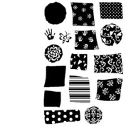 Letter Backgrounds Clear Unmounted Rubber Stamp Set
