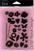 Floral Design Clear Unmounted Rubber Stamp Set