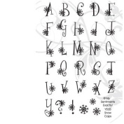Snow Caps Alphabet Clear Unmounted Rubber Stamp Set