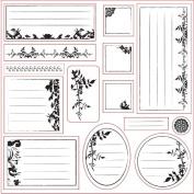 Lil Davis Designs - 8x8 Acrylic Stamps - Secret Garden Collage - 14 Stamp