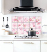 Peel & Stick Aluminium Foil Kitchen Decoration Sticker [ALS-02 X 5ea] Perfect for Kitchen Wall, Dirt and Oil are Wiped Away Easily - Made in Korea