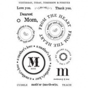 Mother Clear Unmounted Rubber Stamp Set