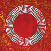 Dove of the East 25-Sheet Circle Pearl Window Paper for Scrapbooking, China Journey, 30cm by 30cm