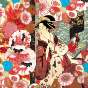 Dove of the East 25-Sheet Floating World Paper for Scrapbooking, Japan Journey, 30cm by 30cm