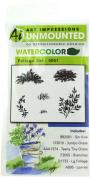 "Art Impressions 4051 Watercolour Series ""WC Foliage Set 2.5cm Rubber Stamp"