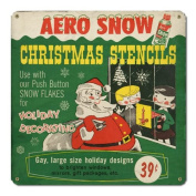 Aero Snow Christmas Stencils Sign