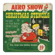 Aero Snow Christmas Stencils Sign