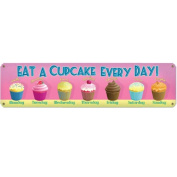 Cupcake a Day Metal Sign