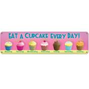 Cupcake a Day Metal Sign