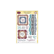 JustRite Stampers Clear Stamps - Celebrations Labels One & Bracket Borders One