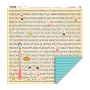 My Little Shoebox Happy Go Lucky Love Notes Double Sided Pattern Paper Pack, 25-Sheet, 30cm by 30cm
