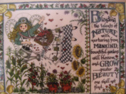 Gardening Wooden Garden Stamp 10cm x 13cm Blending the talents of Nature