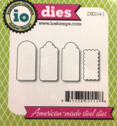 Impression Obsession io Steel Die Set # DIE014-J Mini Rectangle Tags 2 US American Made