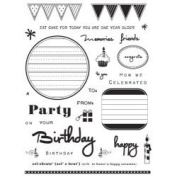 Cake and Candle Journaling Clear Unmounted Rubber Stamp Set