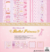 Best Creation 30cm by 30cm 11 Page Glitter Collection Kit with Stickers and Chipboard, Ballet Princess