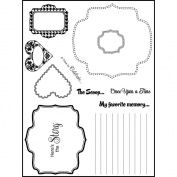 Stamping Scrapping Spellbinders Matching Clear Stamps-Dash It All