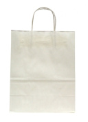 Premier Packaging AMZ-201230 12 Count Shoppers Gift Bag, 10 by 13cm by 33cm , White