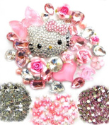 LOVEKITTY DIY 3D Blinged out Kitty Cell Phone Case Resin Cabochons Deco Kit / Set