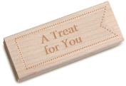 Dress My Cupcake Vintage Wooden Stamp, A Treat for You, Formal Font 25-Point