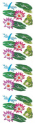 Jillson Roberts Prismatic Stickers, Lily Pads, Frogs and Dragonflies, 12-Sheet Count