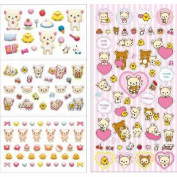 San-x Rilakkuma 4 Kinds Happy Stickers Pink