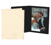 Cardboard Photo Folder for a 4x6 photo - Black Waffle Stock - Pack of 50