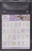 See D's Open Face Alphabet 26 Rubber Stamps Acrylic Block + Case # 50657 Inque Boutique Sugarloaf