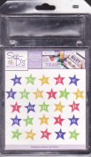 See D's Stars Alphabet Lowercase 26 Pure Rubber Stamps, Case + Acrylic Block # 50661 Inque Boutique Sugarloaf