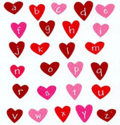 See D's Hearts Alphabet 26 Rubber Stamps Acrylic Block + Case # 50652 Inque Boutique Sugarloaf