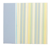 Hom Essence 0397 30cm by 30cm Post Bound Baby Scrapbook, Soft Striped Fabric
