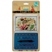 Gcd Studios Chip Art 0.3cm Alphabet Stamp and Punch Set, Chickadee, Upper Case