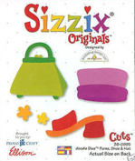 Sizzix Originals Cuts Doodle Dies Purse, Shoe & Hat 38-0995 One Die Cuts 5 Shapes